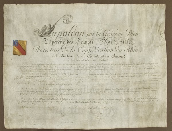 79: Document Signed by Napoleon, on vellum