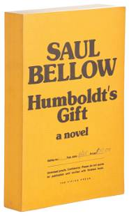 Unrevised proof of Bellow's Pulitzer Prize novel
