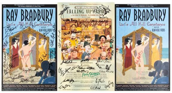 3 signed Ray Bradbury's posters