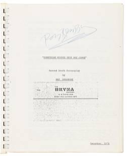 Signed by Ray Bradbury, second draft