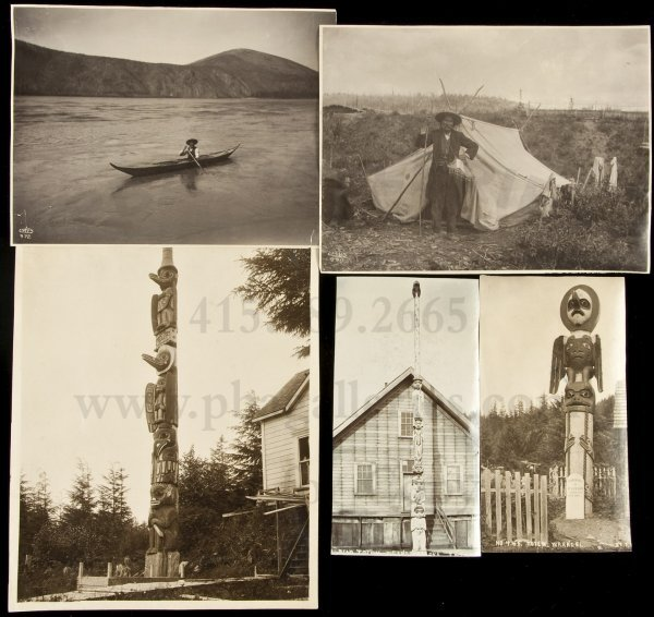 8: 5 orig photos of Alaska Native Americans c1900