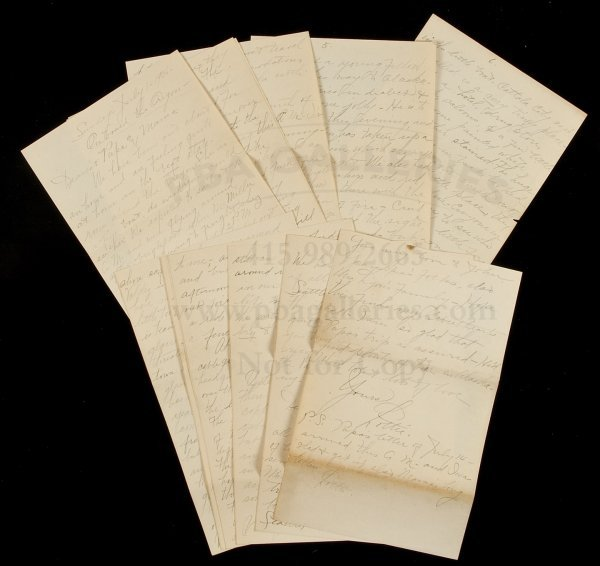 9: Letters from ship bound for Alaska 1906