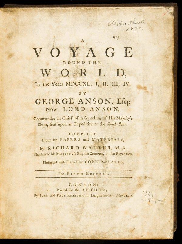 13: Voyage round the world in 1740-44 by Geo Anson