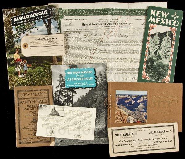 16: 25 ephemera items from Arizona & New Mexico