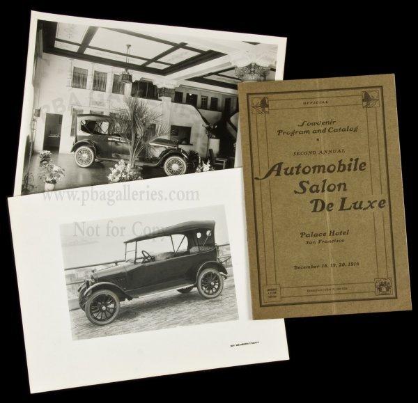 20: Automobile Salon at S.F. Palace Hotel 1916