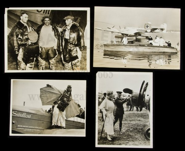 21: photos of 1930s international aviation-about 150