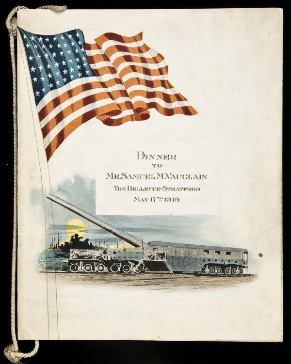 24: Dinner Menu Baldwin Locomotive President 1919