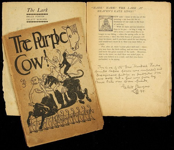 4: The Lark, No. 1-signed & The Purple Cow! Burgess