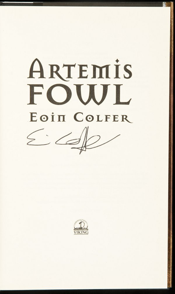 8: 2 signed Artemis Fowl books by Eoin Colfer