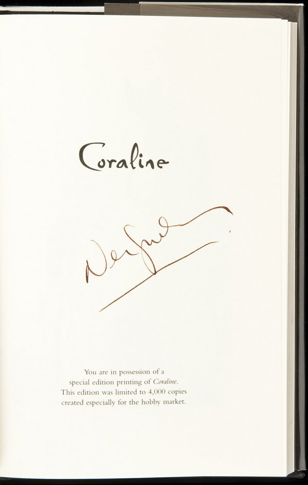 14: Coraline 1st ed in dj signed by author & illustra