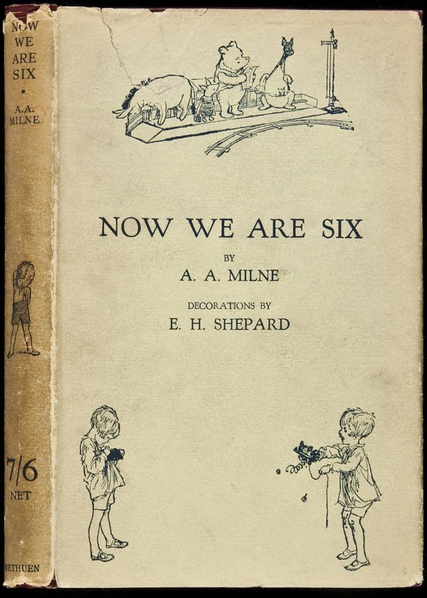 18: Now We Are Six 1st edition in a dust jacket