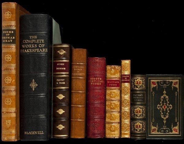 328: 8 finely bound literature volumes