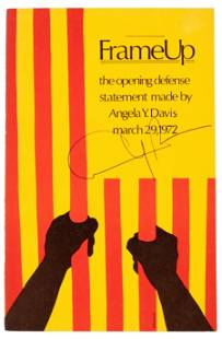 Signed by Angela Davis on cover
