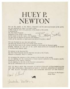 Signed by Bobby Seale and other panthers