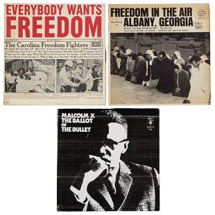 Collection of Civil Rights era lps and ephemera