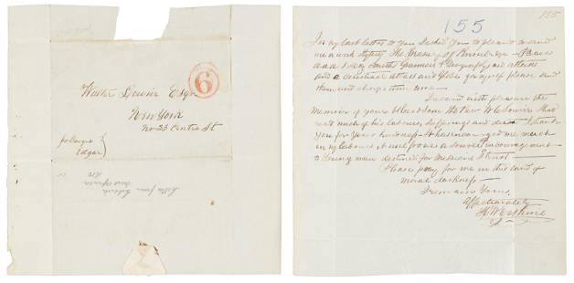 Antebellum Letter from an ex-slave American missionary
