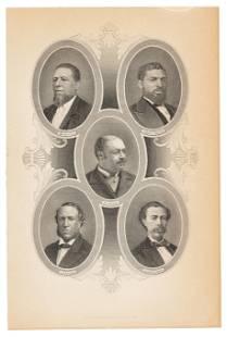 1st African-American Congressmen, 1880s engraving