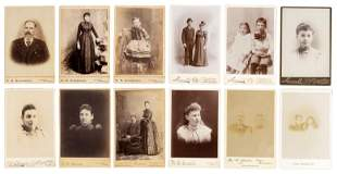 12 cabinet cards from Pacific Northwest photographers