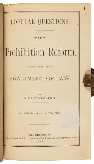 Prohibition plea by a clergyman, S.F. 1886