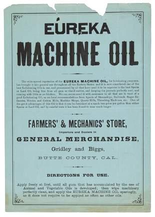 Eureka Machine Oil in Butte County, CA Advertisement