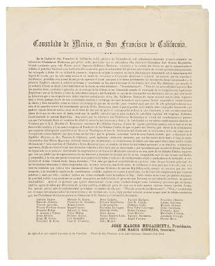 Announcement of new Mexican Consul, 1859