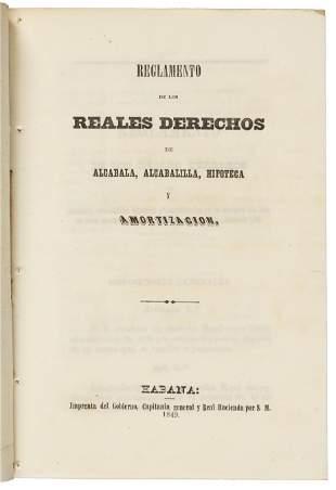 Tax law in Cuba, 1849