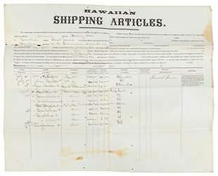 Hawaiian crew bound for Micronesia, 1865