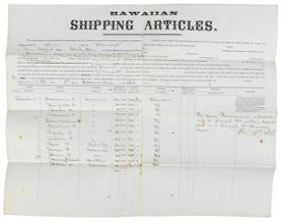 Hawaiian crew signed for whaling cruise 1864