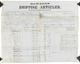 Whaling crew recruited in Hawaii, 1865