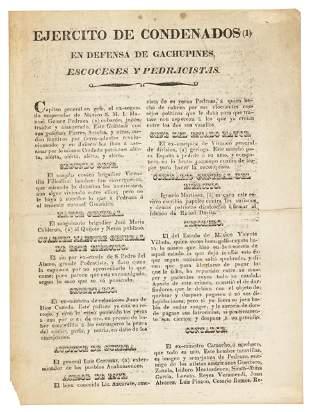 Rare Mexican political flyer 1829