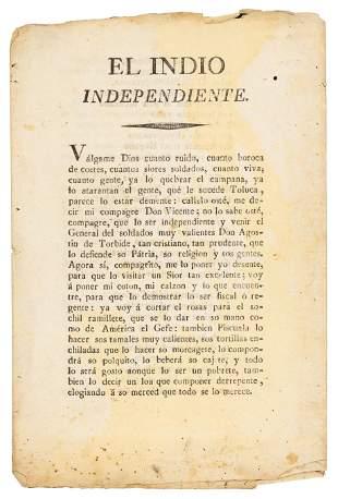Praise for Agustin Iturbide in verse, 1821