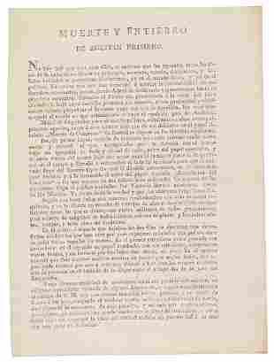 Satire attacking Mexico's Agustin Iturbide 1823