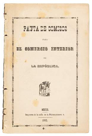 Regulations for Mexican internal revenue 1842