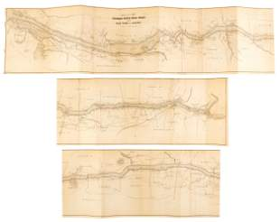 With map of Hudson River Valley 1851
