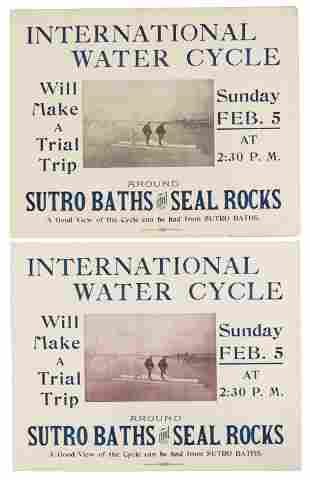 Watercycle at Seal Rocks - Sutro Baths Poster