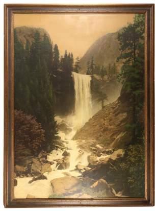 Oversize colored photograph of Vernal Falls, Yosemite