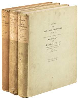 Annals of Lowell Observatory 1898-1905, 3 vols.