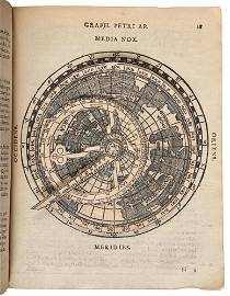Apianus' Cosmographia with volvelles, 1574