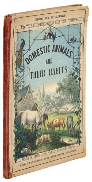 1865 Domestic Animals, w/ 12 hand-colored plates