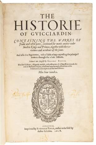 Guicciardini's History, Third Edition, 1618