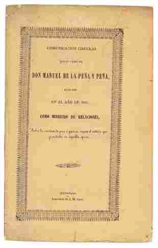 Circular from Don Manuel De La Peña y Peña