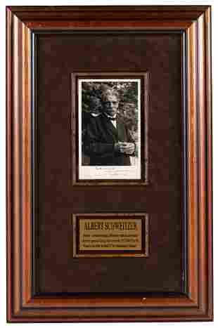 Schweitzer Inscribed Photo Portrait