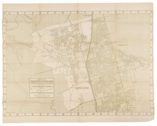 Street Map of Newark, Alameda County