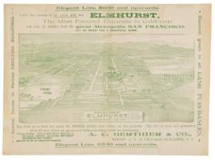Oakland real estate promo with map & view, 1896