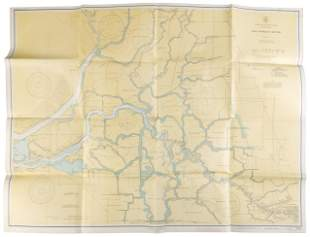 San Joaquin River map 1938