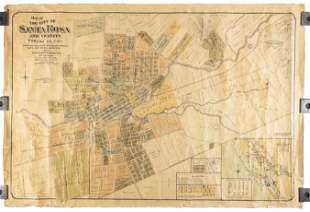 1896 map of Santa Rosa, CA and Vicinity