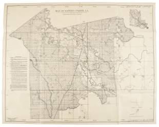 1902 map of Rapides Parish