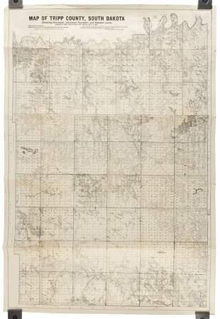 1908 map of Tripp County, South Dakota