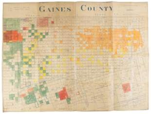 Large oil map of Gaines County, Texas