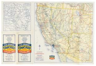 Rare highway map of western U.S. 1933-34